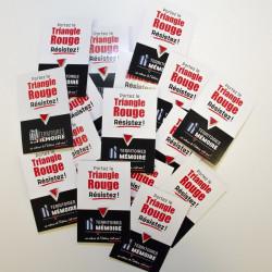 1000 pin's Triangle Rouge (carton personnalisé)